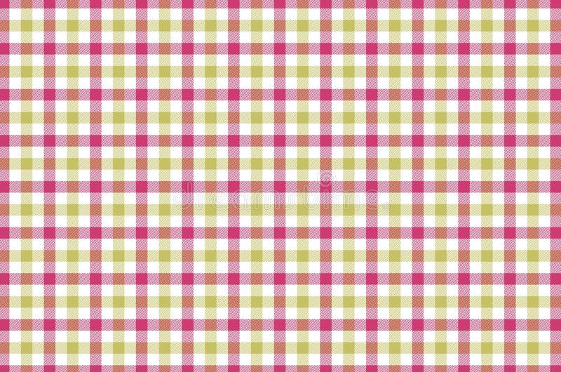 Gingham seamless pattern background. Illustration design stock image