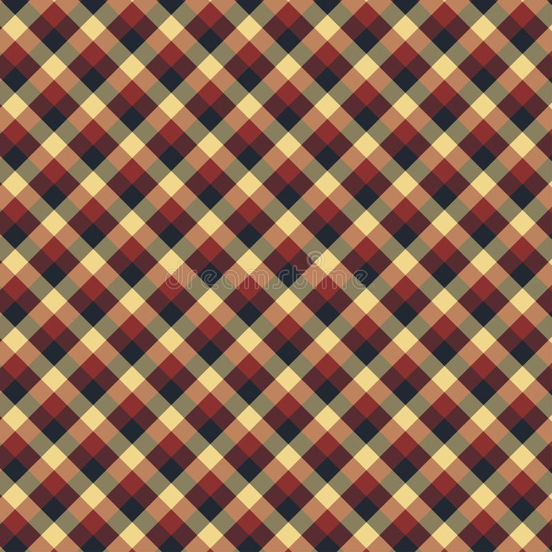 Gingham seamless red and black pattern. Texture for plaid, tablecloths, clothes, shirts,dresses,paper,bedding,blankets,quilts and. Other textile products vector illustration