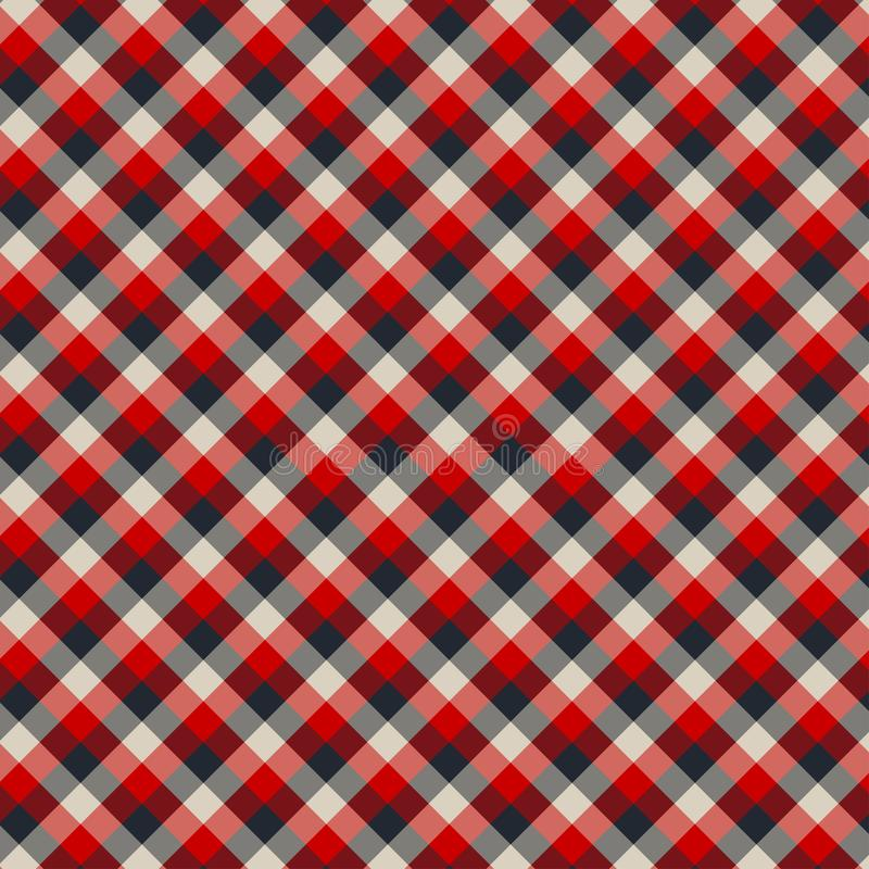 Gingham seamless red and black pattern. Texture for plaid, tablecloths, clothes, shirts,dresses,paper,bedding,blankets,quilts and. Other textile products stock illustration