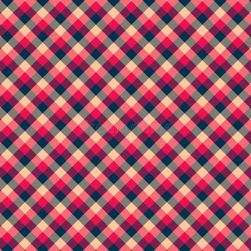 Gingham seamless red and black pattern. Texture for plaid, tablecloths, clothes, shirts,dresses,paper,bedding,blankets,quilts and. Other textile products royalty free illustration