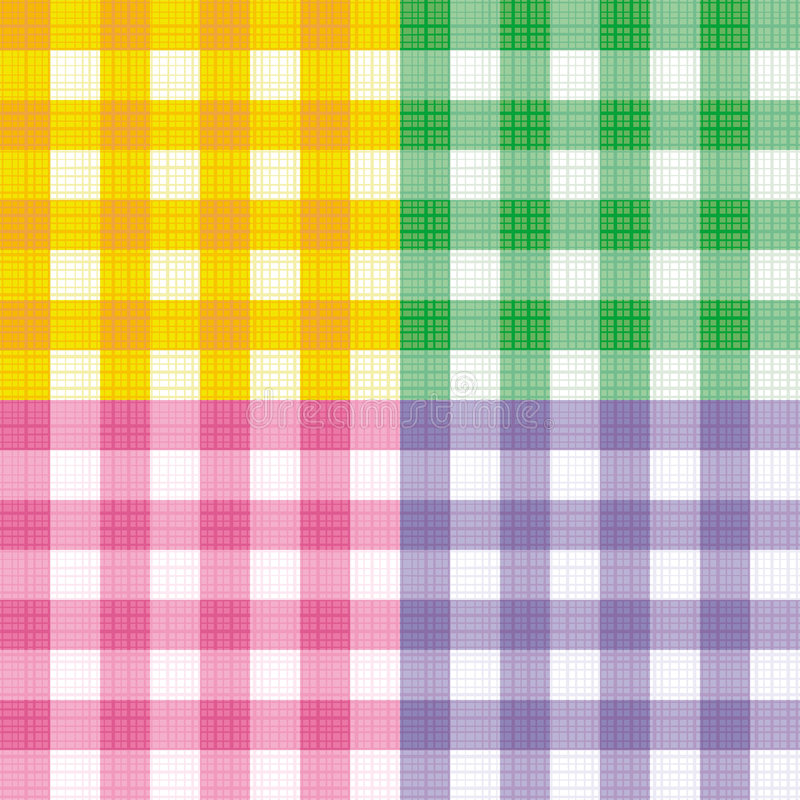 Gingham seamless repeat patterns stock illustration