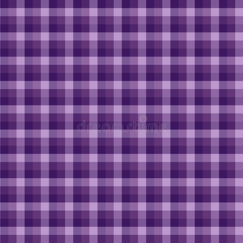 Gingham seamless violet pattern. Texture for plaid, tablecloths, clothes, shirts,dresses,paper,bedding,blankets,quilts and other. Textile products. Vector stock illustration