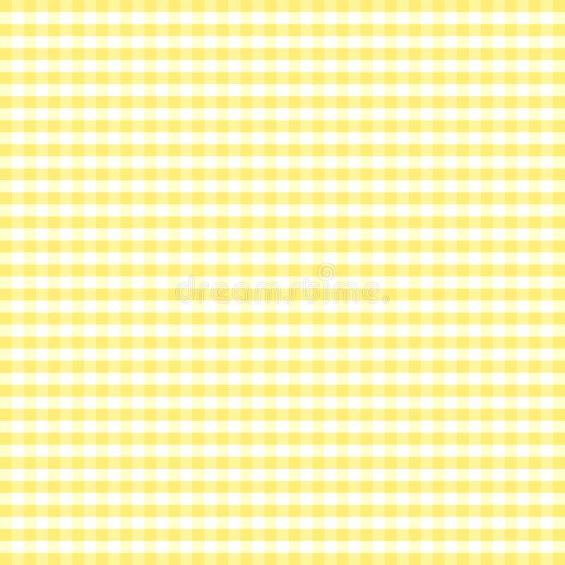 gingham seamless yellow иллюстрация вектора