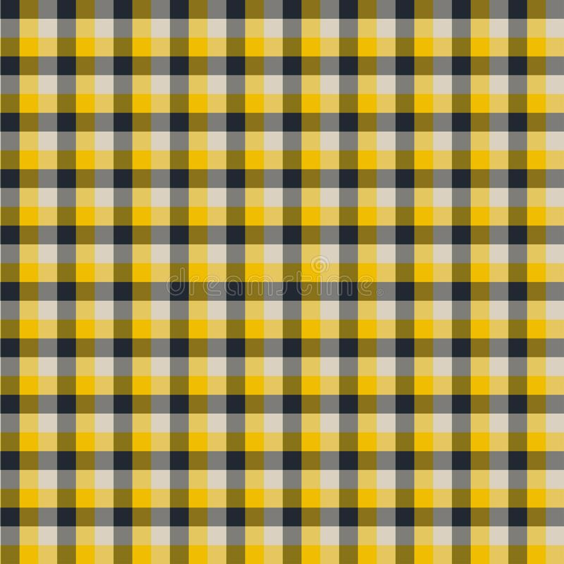Gingham seamless yellow and black pattern. Texture for plaid, tablecloths, clothes, shirts,dresses,paper,bedding,blankets,quilts. And other textile products royalty free illustration