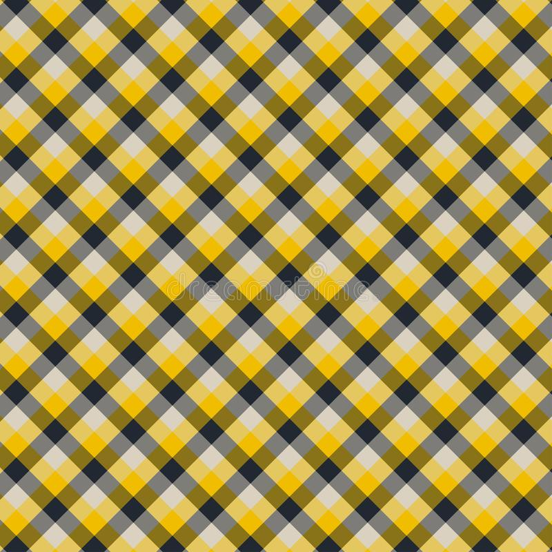 Gingham seamless yellow and black pattern. Texture for plaid, tablecloths, clothes, shirts,dresses,paper,bedding,blankets,quilts. And other textile products vector illustration