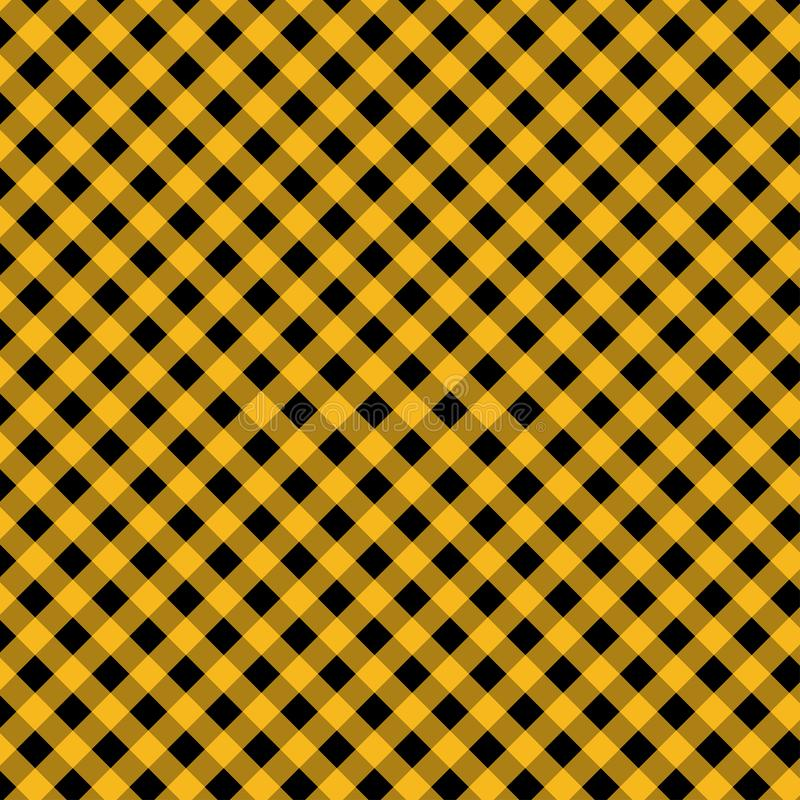 Gingham seamless yellow and black pattern. Texture from squares for plaid, tablecloths, clothes, shirts, dresses, paper, bedding,. Blankets, quilts and other royalty free stock photo