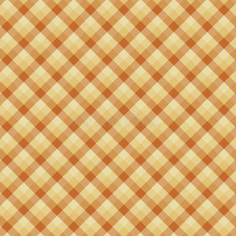 Gingham seamless yellow pattern. Texture for plaid, tablecloths, clothes, shirts,dresses,paper,bedding,blankets,quilts and other. Textile products. Vector stock illustration
