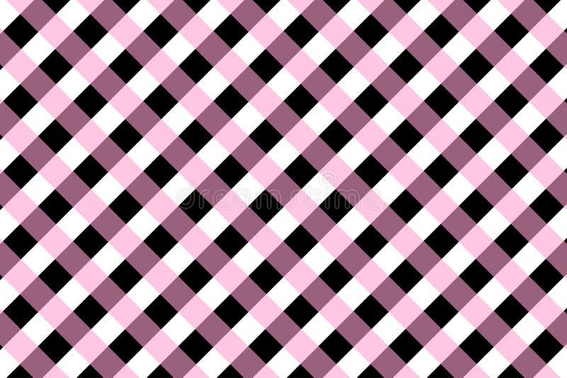 Ginghammusterpfirsich und schwarze Farbe vektor abbildung