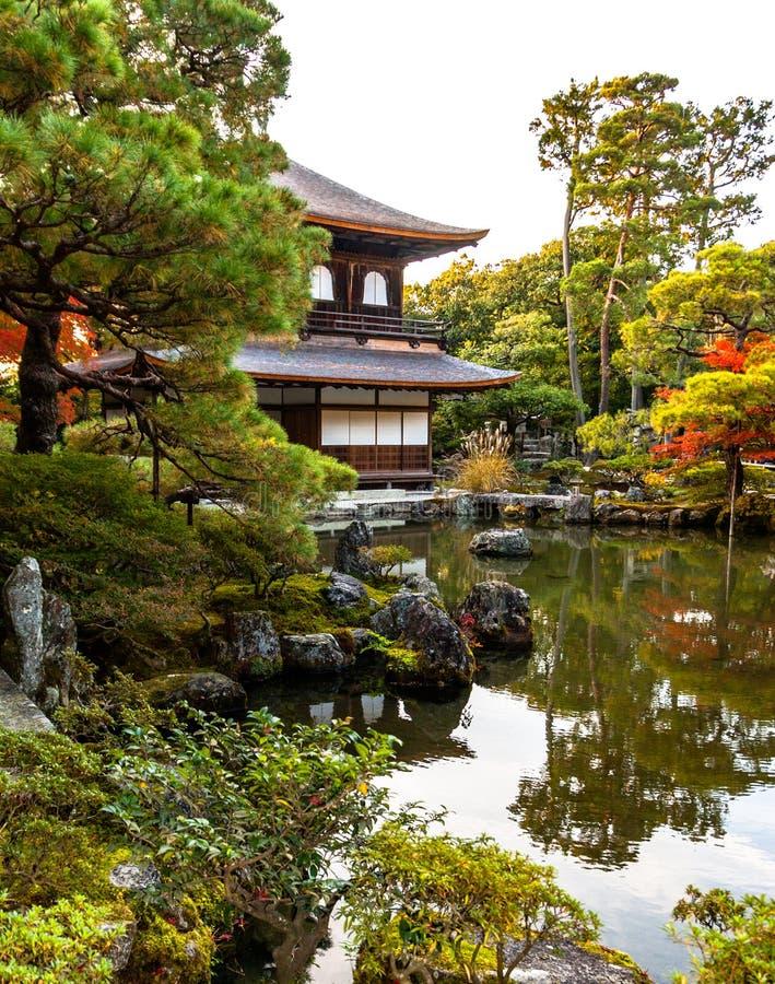 Ginkaku-ginkaku-ji, ο ναός του ασημένιου περίπτερου στο Κιότο στοκ φωτογραφίες με δικαίωμα ελεύθερης χρήσης