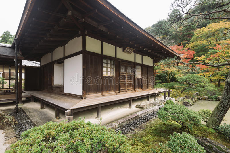 Ginkaku-ji, also known as the Temple of the Silver Pavilion, Kyoto, Kansai, Japan. It is one of the constructions that represents the Higashiyama Culture of stock image