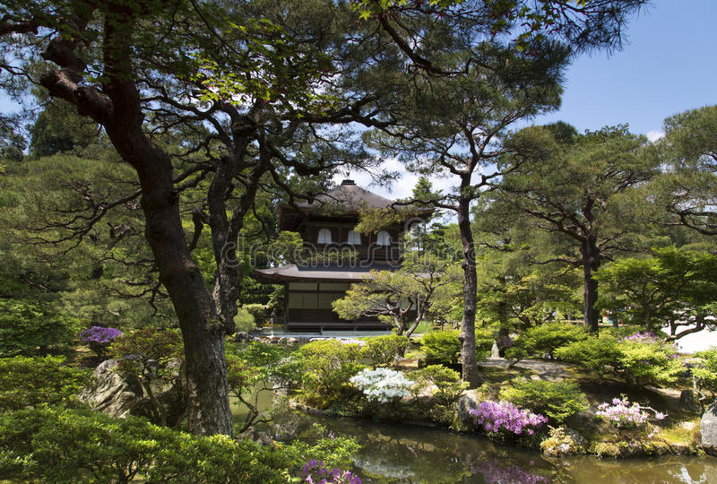 Ginkaku-ji, Silver Pavilion Temple in Kyoto royalty free stock photography