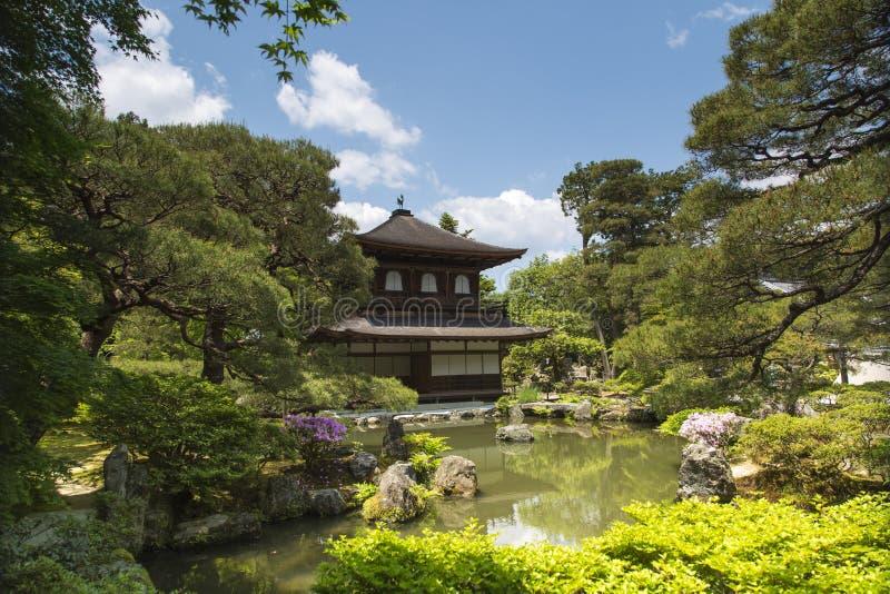 Ginkaku-ji Temple (Silver Paviliion) in Kyoto, Japan royalty free stock photography