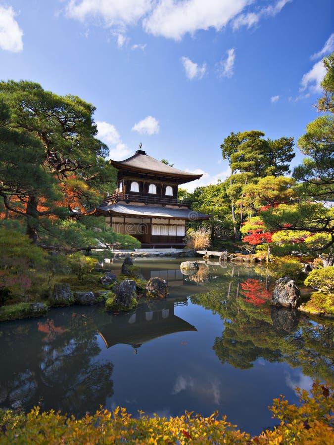 Ginkaku-jitempel in Kyoto stockbilder