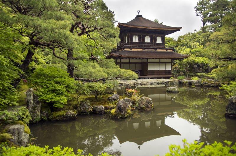 Ginkakuji świątynia, Kyoto (Srebny pawilon) obrazy royalty free