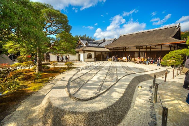 Ginkakuji (银色亭子),京都,日本 库存图片