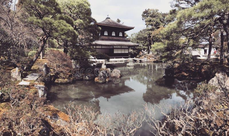 Ginkakuji silverpaviljong arkivfoto