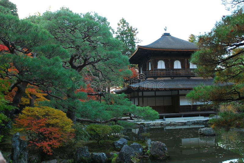 Ginkakuji-Tempel in Kyoto stockbilder