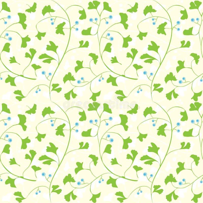 Ginkgo naadloos patroon vector illustratie