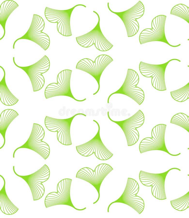 Ginkgobiloba verlaat naadloos patroon vector illustratie