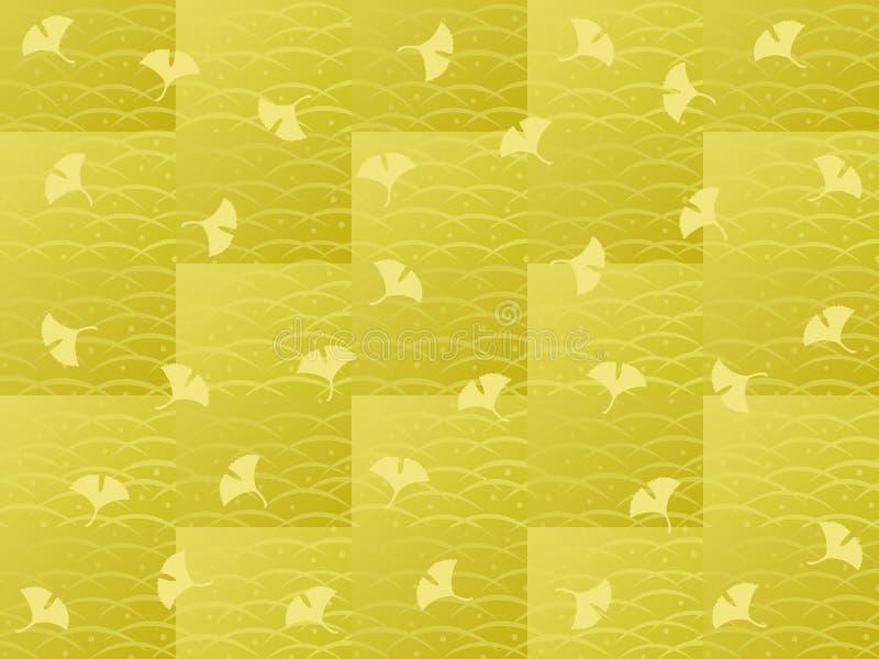Ginkgoes bakgrund vektor illustrationer