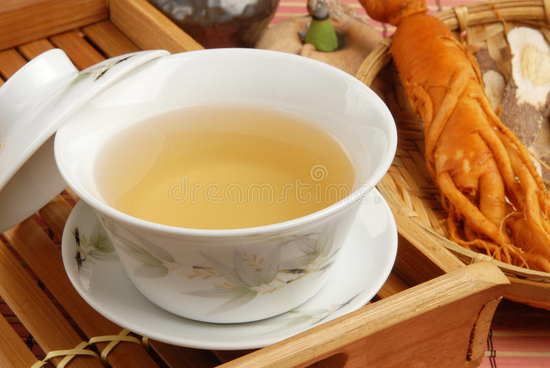 ginseng herbata obrazy royalty free