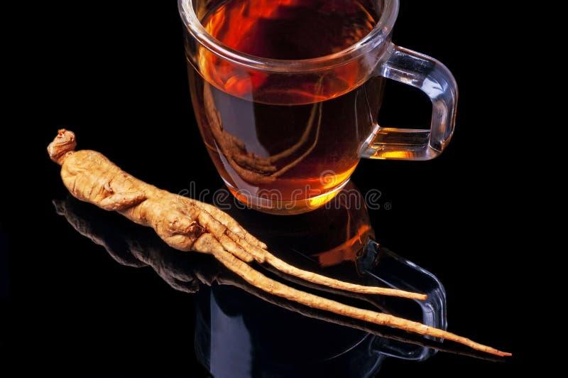 ginseng herbata zdjęcia stock