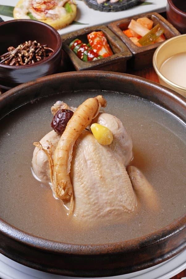 GinsengHühnersuppe lizenzfreies stockfoto