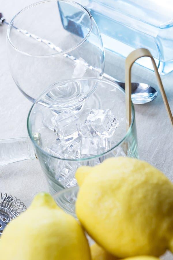 Ginuppiggningsmedelförberedelse royaltyfria foton