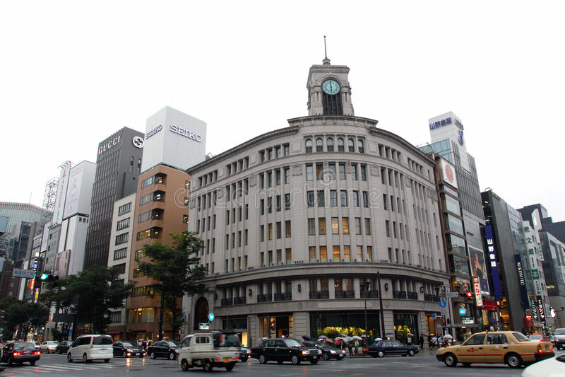 ginza Japan obraz stock