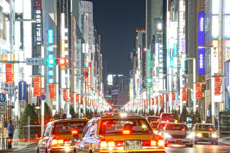 Ginza night view image royalty free stock photo