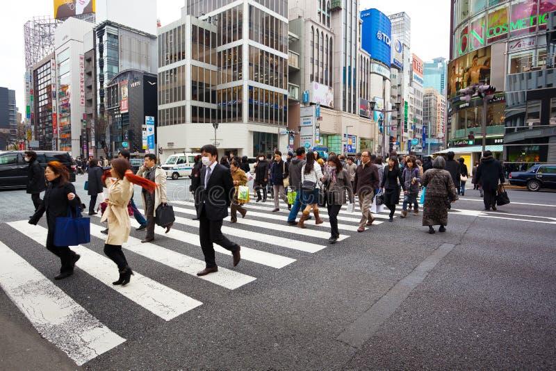 Ginza, tokyo japan royalty free stock images