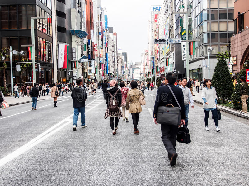 Download Ginza Walking Street, Tokyo, Japan 1 Editorial Photography - Image of futuristic, architecture: 31327607