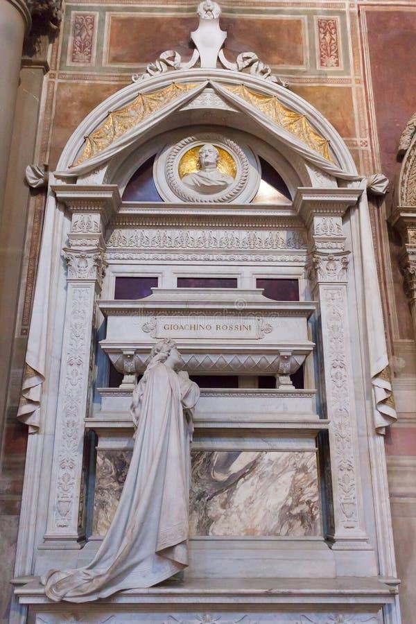 Gioacchino Rossini Grobowcowa bazylika Santa Croce, Florencja - fotografia stock