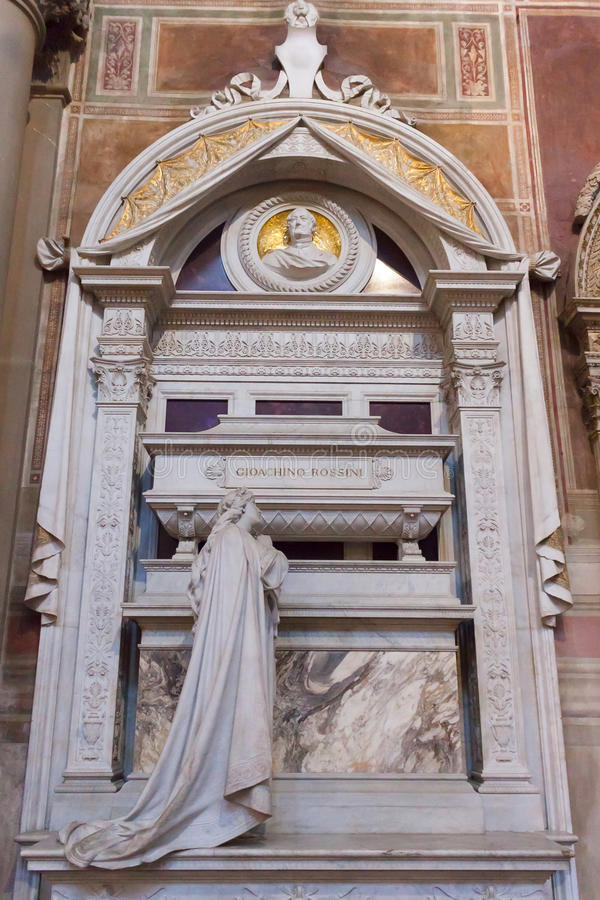Gioacchino Rossini Tomb Basilica de Santa Croce - Florence photographie stock