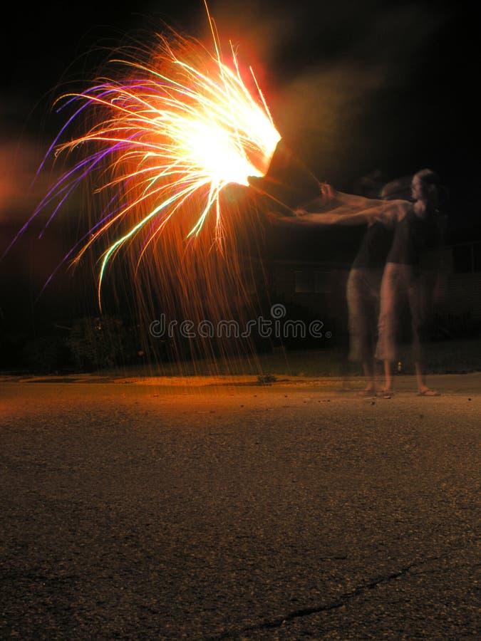 giocando sulla festa dell'indipendenza fotografia stock libera da diritti