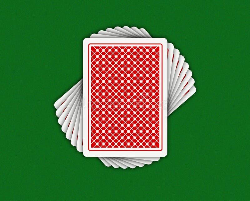 Giocare-schede illustrazione di stock