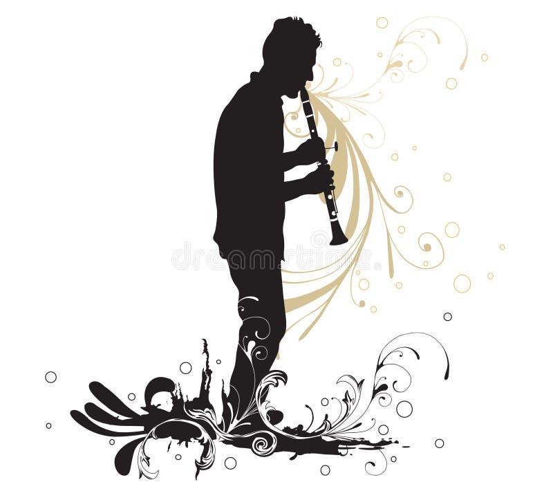 Giocatore del Clarinet illustrazione di stock