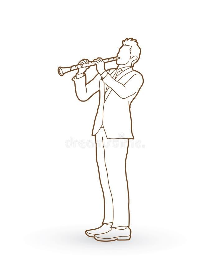 Giocatore del Clarinet illustrazione vettoriale