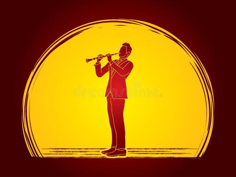 Giocatore del Clarinet royalty illustrazione gratis