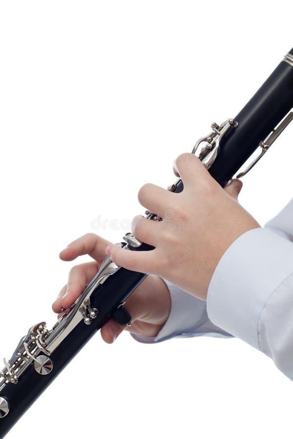 Giocatore del clarinetto immagine stock