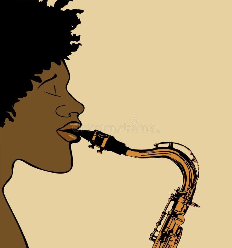 Giocatore del sassofono illustrazione di stock