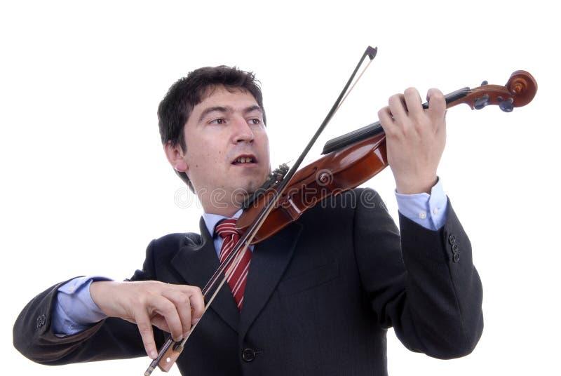 Giocatore del violino immagine stock