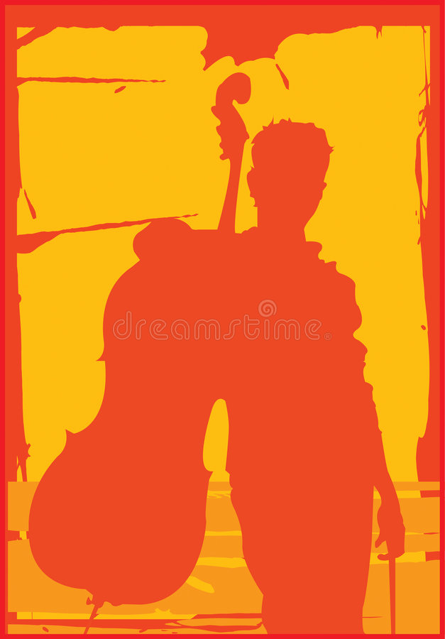 Giocatore del violoncello royalty illustrazione gratis