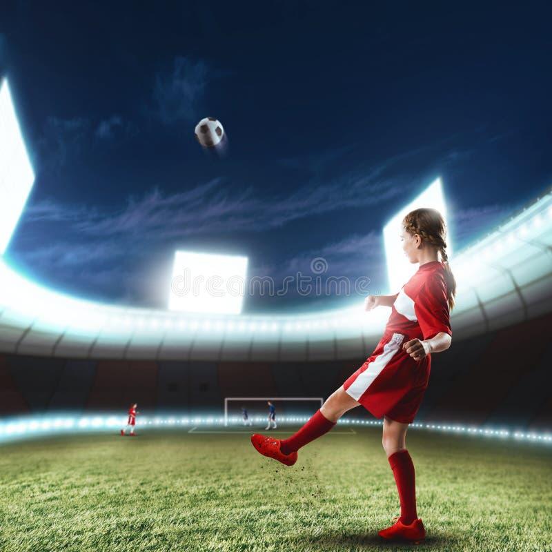 Giocatore della femmina di calcio fotografie stock libere da diritti
