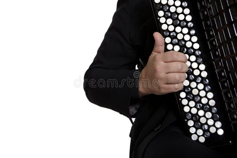 Giocatore della fisarmonica fotografia stock libera da diritti