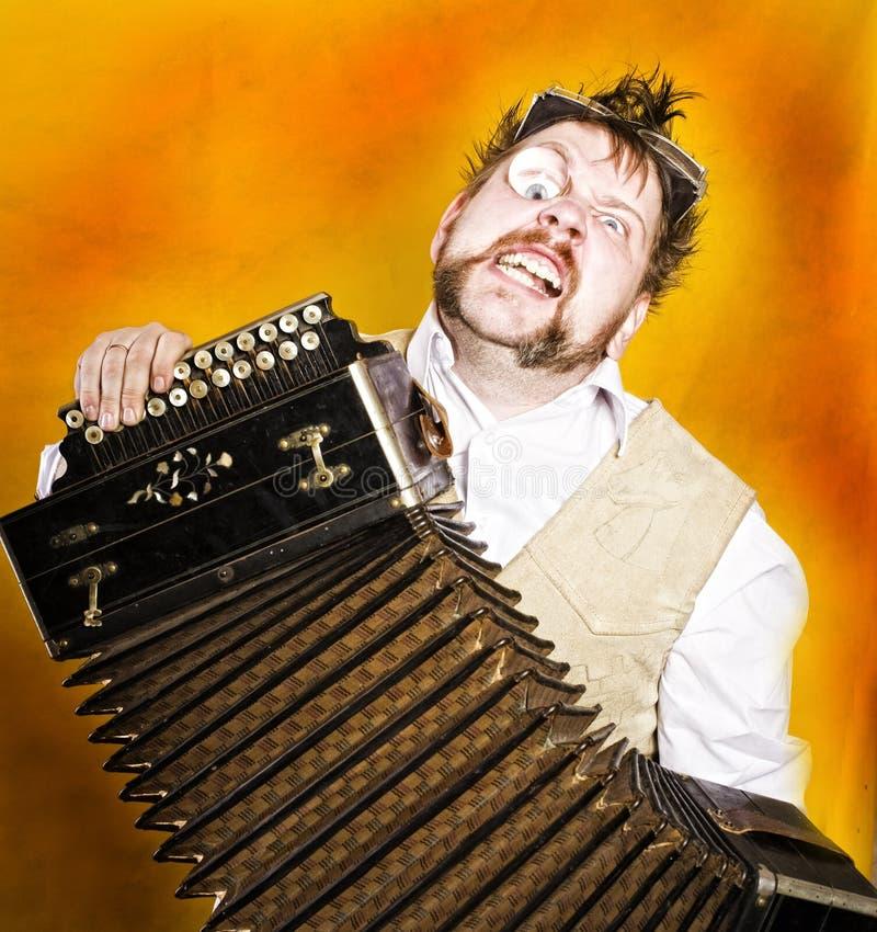 Giocatore della fisarmonica di Steampunk fotografie stock libere da diritti