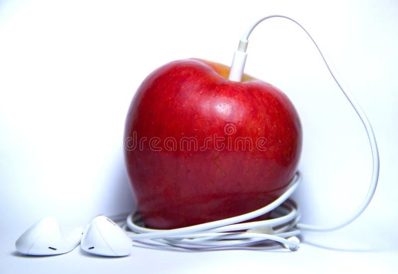 giocatore della mela fotografia stock libera da diritti