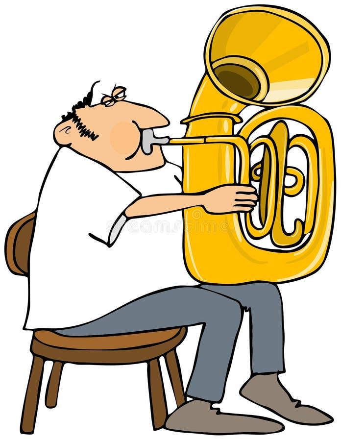 Giocatore della tuba illustrazione di stock