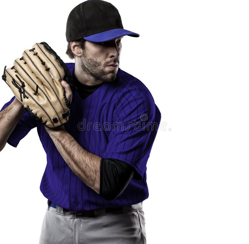 Giocatore di baseball del lanciatore immagine stock
