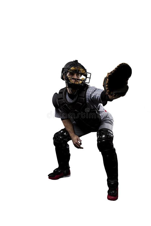 Giocatore di baseball del ricevitore immagini stock